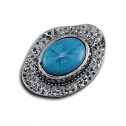 Women Fashion Vintage Blue Marble Adjustable Ring