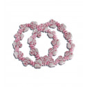 Womens Kids Pink White Elephant Stretchable Bracelet Set