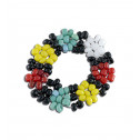 Women's Flower Multicolor Beaded Stretchable Fashion Ring