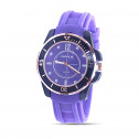 Mens Purple Dial Rubber Band Quartz Fashion Watch