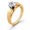 New 0.40ct Diamond Solitaire 10k Gold Engagement Ring