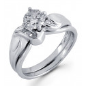 14k White Gold 0.82 Ct Round Diamond Engagement Ring
