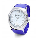 New Women's White CZ Bezel Purple Fashion Bangle Watch