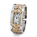 Women's White Black Dial CZ New Two Tone Bangle Watch