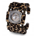 Women's Brown Black Cable Roman Numbers Bangle Watch