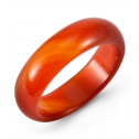 High Polished Half Domed Natural Red Agate Ring Band