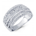 14k White Gold 0.60 Ct Ct Pave Set Round Diamond Ring
