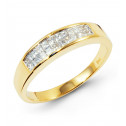 14k Yellow Gold 0.60 Ct Princess Diamond Wedding Band