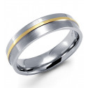 New Men's Stainless Steel Gold Tone Wedding Band Ring