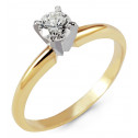 New 14k Yellow Gold 0.60ct Round Diamond Solitaire Ring