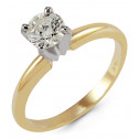 New 14k Yellow Gold 3/4ct Round Diamond Solitaire Ring