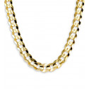 14k Solid Yellow Gold Curb Chain Link Necklace 11.8mm