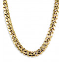 14k Solid Yellow Gold Cuban Curb Chain Necklace 9.7mm