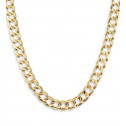 New 14k Yellow Gold Cuban Chain Link Necklace 6.9mm
