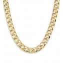 14k Yellow Gold Curb Link Chain Necklace 14.1mm