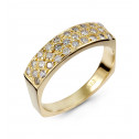 Women's 14k Yellow Gold Round Diamond Wedding Band Ring