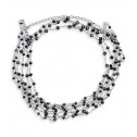 "New 14k White Gold 15.08ct Black Diamond 16"" Necklace"