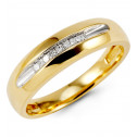14k Yellow Gold 0.24 Ct Princess Diamond Wedding Band