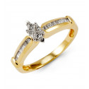 14k Yellow Gold Love Baguette Diamond Engagement Ring