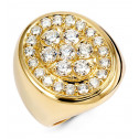 Men's New 2.99ct Round Diamond 14k Yellow Gold Ring