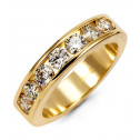 Women's 14k Yellow Gold 1.05ct Round Diamond Band Ring