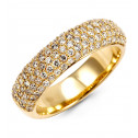 New 14k Yellow Gold Round 0.78ct Fire Diamond Band Ring