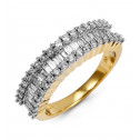 Baguette Round 1ct Diamond 14k Yellow Gold Wedding Ring