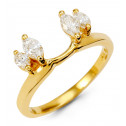 Women's New 14k Yellow Gold Marquise Diamond Ring