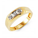 10k Yellow Gold 0.12 Ct Round Diamond Wedding Ring Band