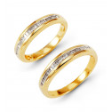 14kYellow Gold 0.54 Ct Baguette Diamond Wedding Rings