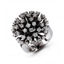 Solid 14k White Gold 1.61 Ct Round Diamond Fashion Ring