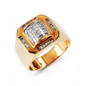 14k Yellow Gold 1.00 Ct Princess Baguette Diamond Ring