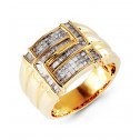 14k Yellow Gold 1.10 Ct Princess Baguette Diamond Ring