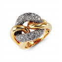 14k Yellow Gold 2.40 Ct Round Diamond Circle Link Ring