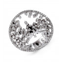 Solid 18k White Gold 1.33 Ct Round Diamond Fashion Ring