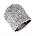 18k White Gold 2.10 Ct Round Diamond Extra Wide Ring