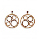 Smoky Topaz Champagne CZ Round Fashion Round Earrings