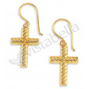 New 14k Gold Bonded Beautiful Religious Cross Earrings