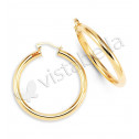 Polished New 14k Gold Bonded Large Round Hoop Earrings