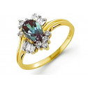 Women's 10k Yellow Gold .40ct Diamond Alexandrite Ring