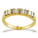 New Round Princess 1/4ct Diamond 10k Yellow Gold Ring