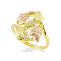 New 14k Two Tone Gold Grapevine Leaves Women's Ring