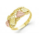 14k Yellow Rose Gold Cut Out Leaves Vine Women's Ring