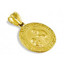 Childrens 14k Yellow Gold Oval First Communion Pendant