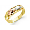 New 14k Solid Yellow White Rose Gold Elephant Band Ring