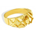 New Mens 14k Solid Yellow Gold Diamond Cut Nugget Ring