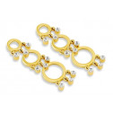 14k Yellow Gold 0.10 Ct Diamond Round Dangle Earrings