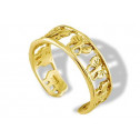 14k Yellow Gold Cutout Butterfly Open Band Toe Ring