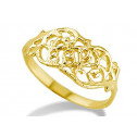 14k Yellow Gold Cut Out Baby Child Kids Fashion Ring