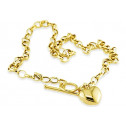 Solid 14k Yellow Gold Heart Love Charm Fashion Necklace